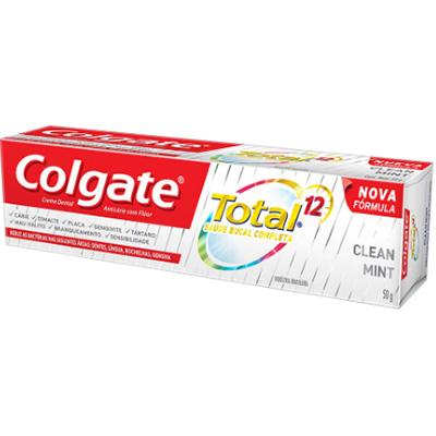 CREME DENTAL 50G COLGATE TOTAL 12 CLEAN MINT
