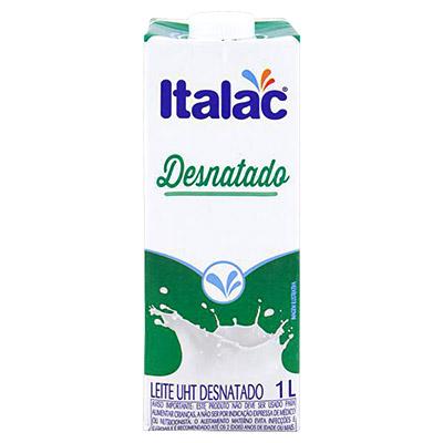 LEITE LÍQUIDO DESNATADO 1LT ITALAC C/ TAMPA