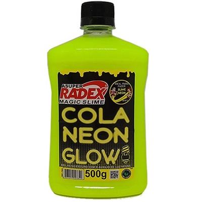 COLA GLOW SLIME NEON 500G RADEX AMARELO