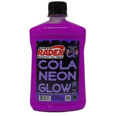 COLA GLOW SLIME NEON 500G RADEX ROXO