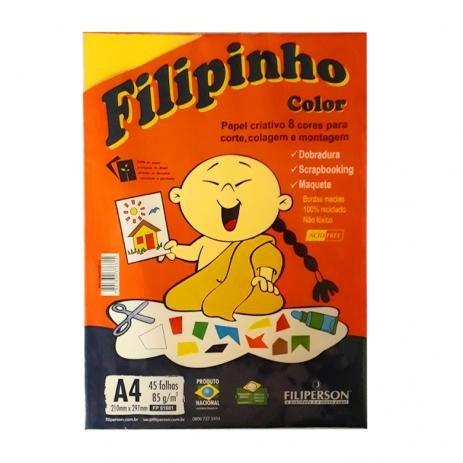 PAPEL CRIATIVO COLOR 8 CORES 85G 45 FOLHAS FILIPINHO