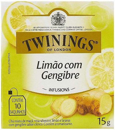 CHÁ LIMÃO COM GENGIBRE TWININGS C/10 SAQUINHOS 15G