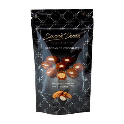 Sacré Doux Drageas Amêndoas c/ Chocolate 70%