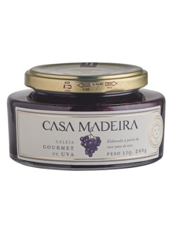 Casa Madeira Geléia De Uva   240G