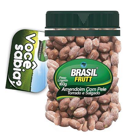 Brasil Frutt  Amendoim Com Pele Torrado e Salgado  160g