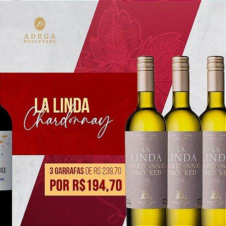 PROMOÇÃO COMBO 3gfs de La Linda Chardonnay 750ml