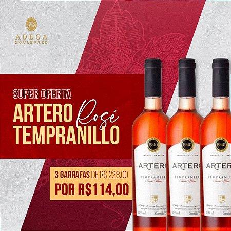 Promoção Combo 3 gfs de Artero   Tempranillo  Rosé  750ml