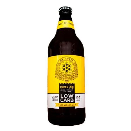 Cerveja Six Shots Cream Ale Low Carb - Zero Açúcar 600 ml