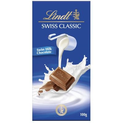 Chocolate Lindt Swiss Classic ao Leite 100 g