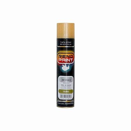 Tinta Spray Rendicolla Uso Geral e Artesanato Dourado