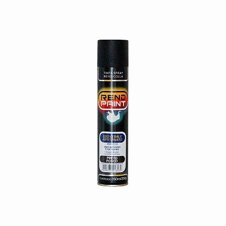 Tinta Spray Rendicolla Uso Geral e Artesanato Preto Fosco