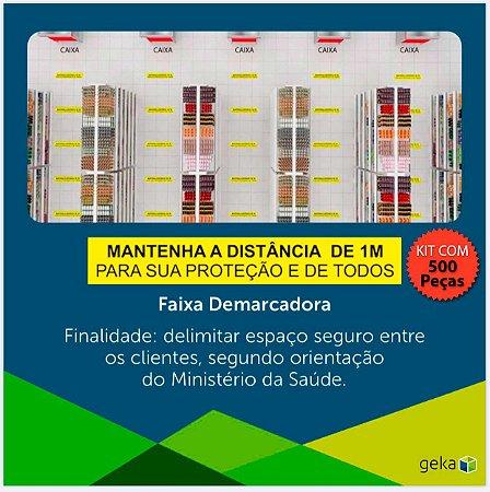 FITA DEMARCADORA DE DISTANCIAMENTO  - KIT COM 500 PEÇAS