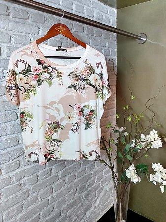 Blusa Malha Estampa Floral