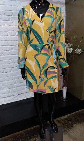 Vestido Viscose Estampa Floral