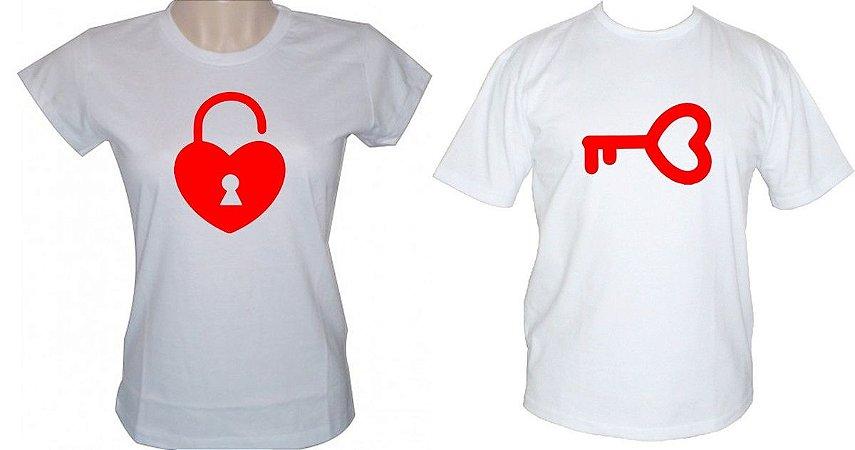 Kit 2 Camisas dia dos Namorados chave