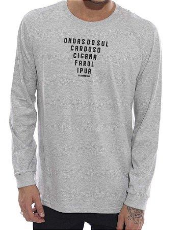 Camiseta Vida Marinha Manga Longa