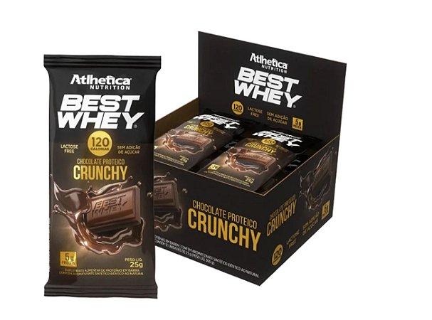 BEST WHEY - Chocolate em barra  (Cx de 12 Unid. de 25G) - Atlhetica Nutrition