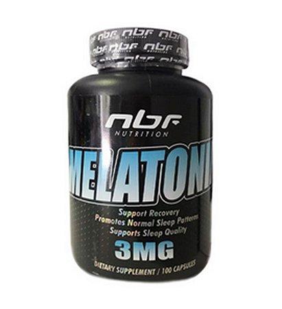 MELATONIN - Melatonina - 3MG - 100 Caps. - NBF NUTRITION