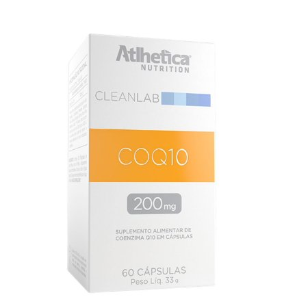 COQ10 200mg, Coenzima Q10, Atlhetica Nutrition, 60 Cáps.