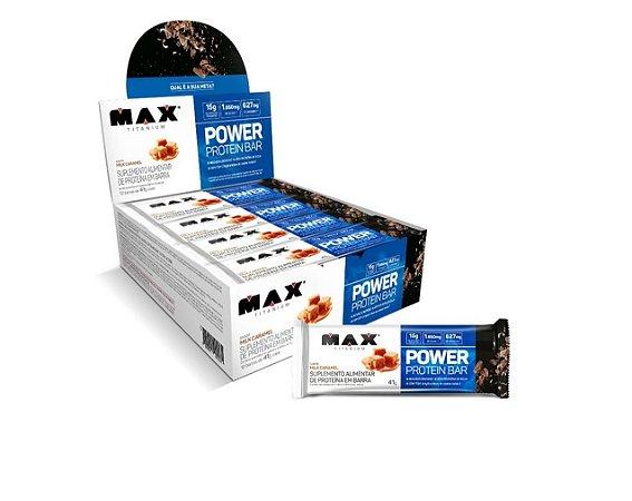 POWER PROTEIN BAR CAIXA COM 8 UN DE 41G - MAX TITANIUM