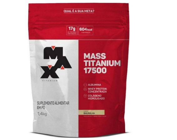 Mass Titanium 17500 1,4kg Refil - Hipercalórico massa Max Titanium