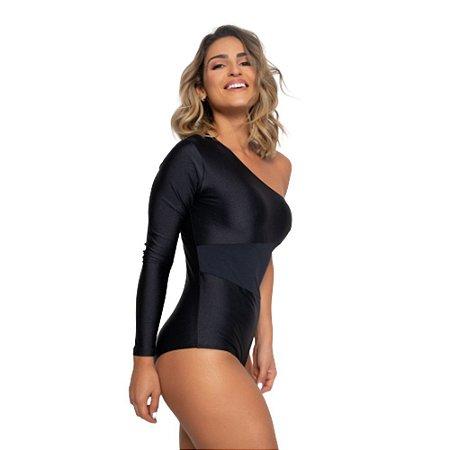 Body Fitness Poliamida Trilobal - Preto