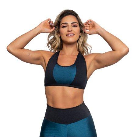 Top Fitness Poliamida Cruzado UV 50+ - Bicolor
