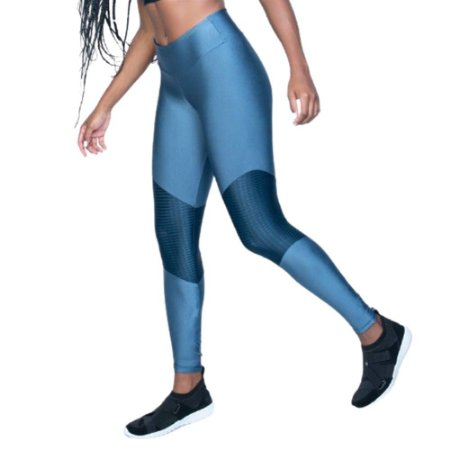 Legging Fitness Poliamida Sunset - Azul