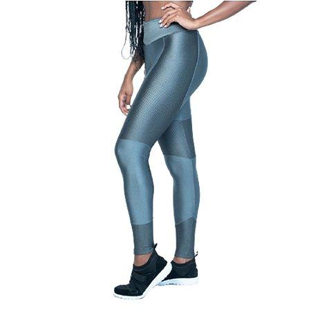 Legging Fitness Poliamida Textura - Grafite