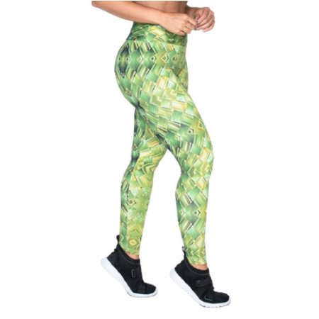 Legging Fitness Poliamida UV50+ - Verde Bambu
