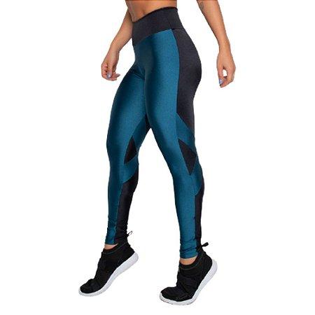 Legging Fitness Poliamida Trilobal UV 50+ - Bicolor