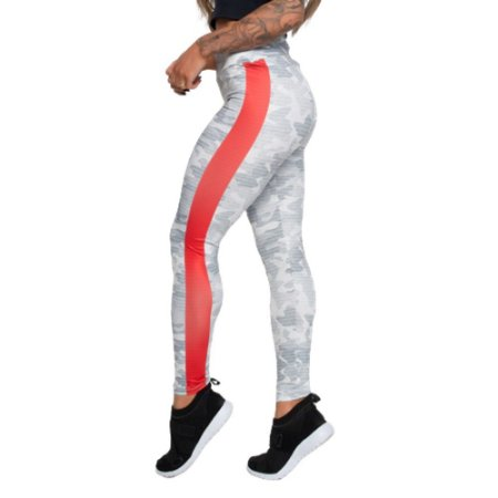 Legging Fitness Red Line - Cinza camulhada