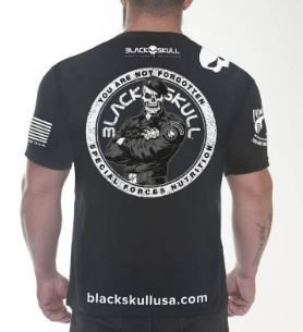 Camiseta Dry Fit Soldado BOPE Black Skull - preta