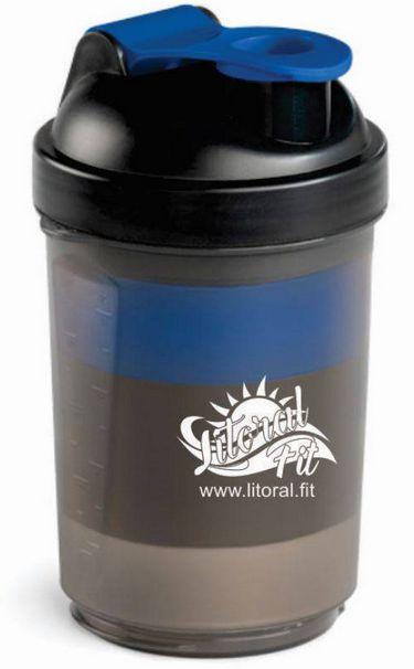 Coqueteleira com 3 compartimento (500 ml) - Litoral Fit