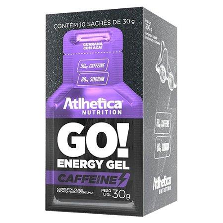 GO ENERGY GEL, gel energético, Atlhetica Nutrition, caixa com 10 sachês