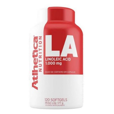 LA Linoleic Acid, Óleo de Cártamo, Atlhetica Nutrition, 120 softgels