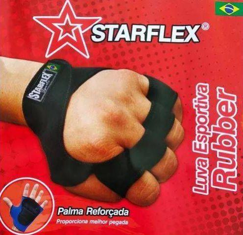 Luva Esportiva - RUBBER - Starflex