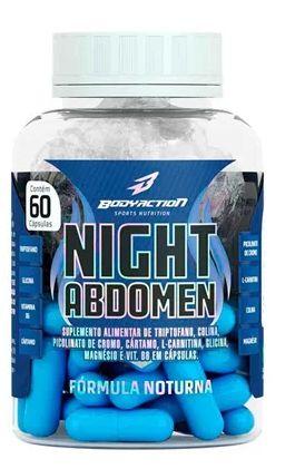 NIGHT ABDOMEN (60caps) - triptofano Bodyaction cártamo l-carnitina cromo