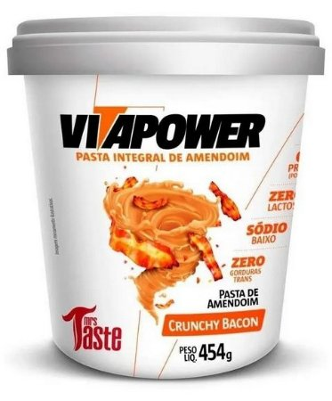 Pasta de amendoim integral (Bacon)  -sabores VITAPOWER