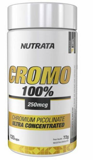Picolinato de Cromo 100% (120caps) - Inibidor de apetite Nutrata