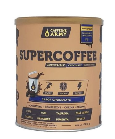 SUPERCOFFEE 2.0, Caffeine Army, 220g, Sabor chocolate
