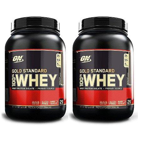 Kit 2x GOLD STANDARD 100% WHEY, On, Optimum Nutrition, 907g combo
