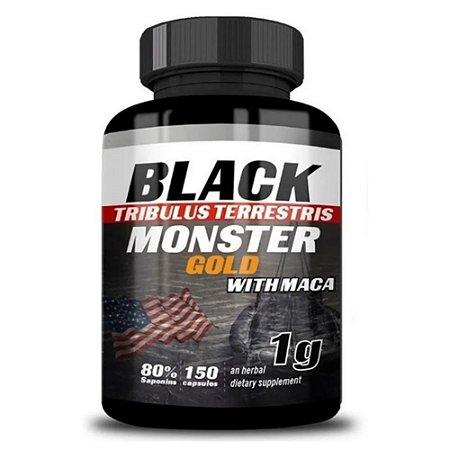 TRIBULUS TERRESTRIS COM MACA 1g, Black Monster, 150 Caps.