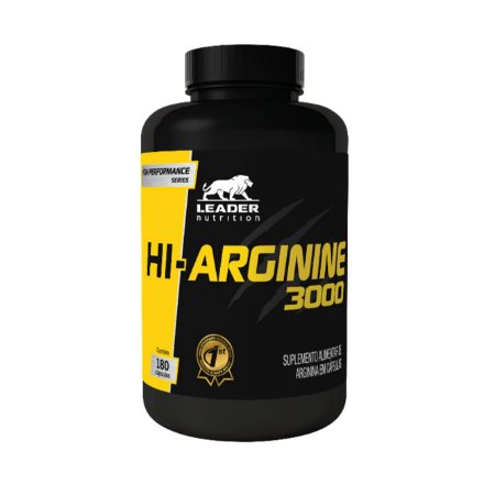HI- ARGININA 3000 - 180 Cáps. - LEADER NUTRITION