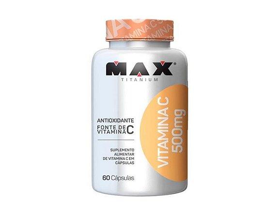 Vitamina C, 500mg, Max Titanium, 60 Caps.