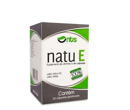 NATU E, Suplemento de vitamina E, NTS, 30 caps.