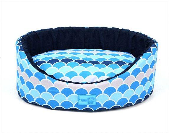 Cama Oval Atlanta Azul G