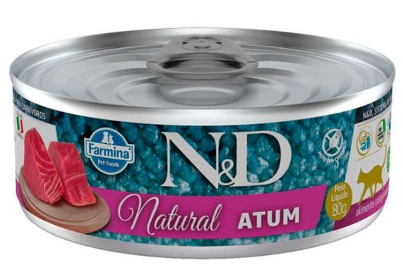 Lata N&d Gato Ad Natural Atum 80g