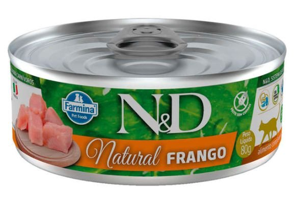 Lata N&d Gato Ad Natural Frango 80g