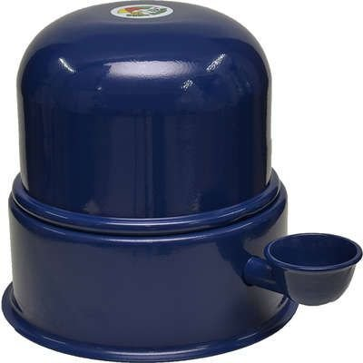 Bebedouro Vida Mansa Raças Pequenas Alumínio 1,4L Azul Escuro